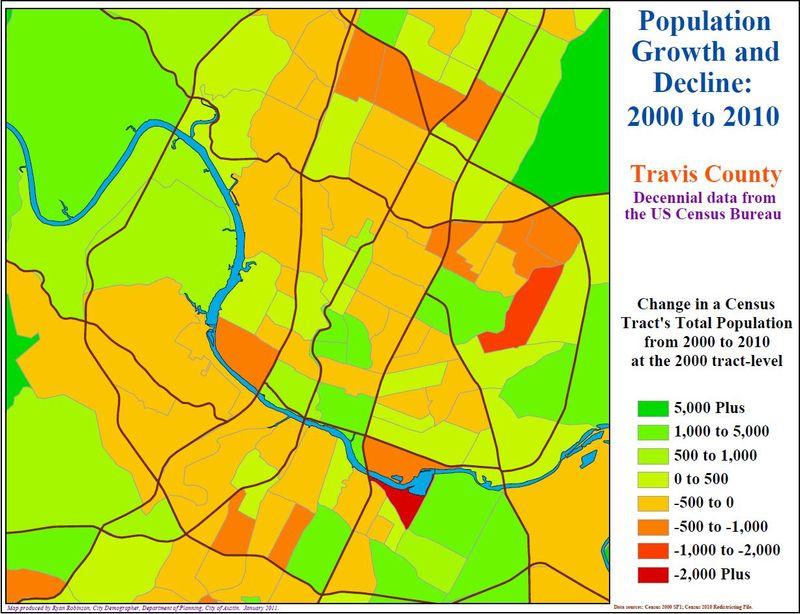 Austin urban core 2000-2010