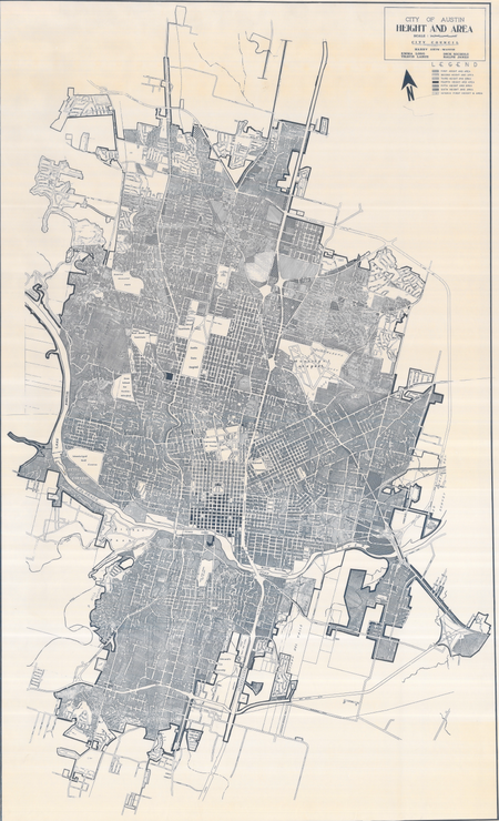 Austin - 1968 Height & Area Map